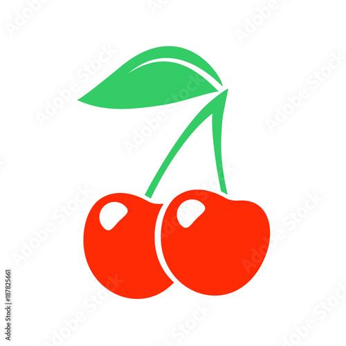 cherry illustration Fotobehang