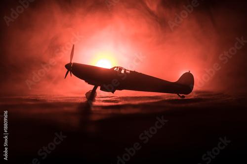 Canvas Print British jet-propelled model plane in possession
