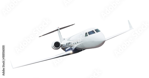 Fototapeta Airplane isolated on white background