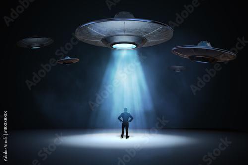 Alien invasion concept Fototapeta