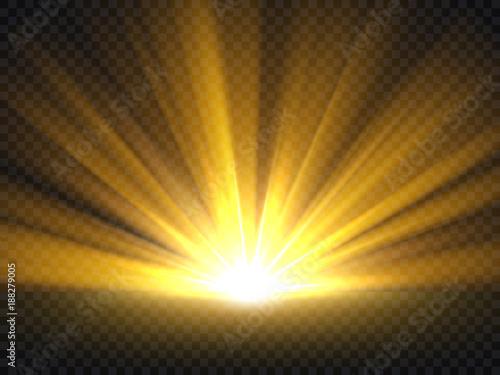 Abstract golden bright light Fototapeta