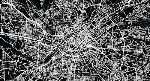 Photo Urban vector city map of Manchester, England
