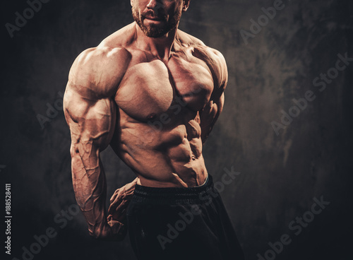 Canvas Print Man showing his muscular body