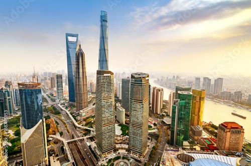 Photo Skyscraper in Shanghai, China