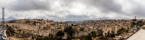 the old city of Jerusalem from Damascus gate