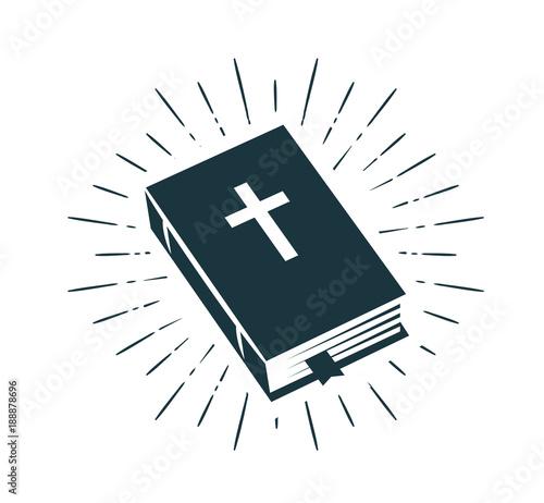 Bible, Scripture logo or label Fototapet