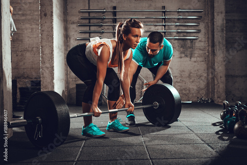 Training With A Personal Trainer Fototapet