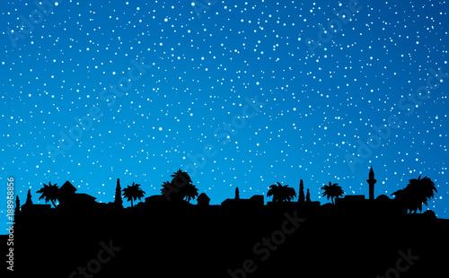 Fotografia City in a desert. Vector drawing
