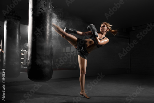 Canvas Print Kickboxing