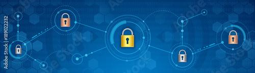 Obraz na płótnie Cyber security