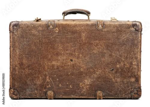 Fotografia Old suitcase isolated on white background