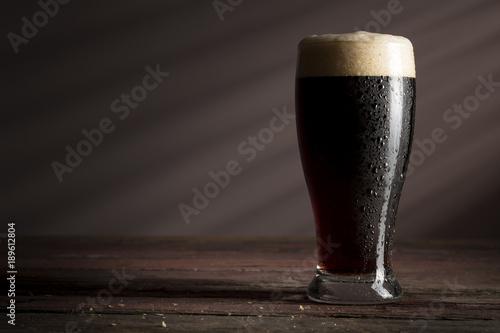 Wallpaper Mural Glass of dark beer