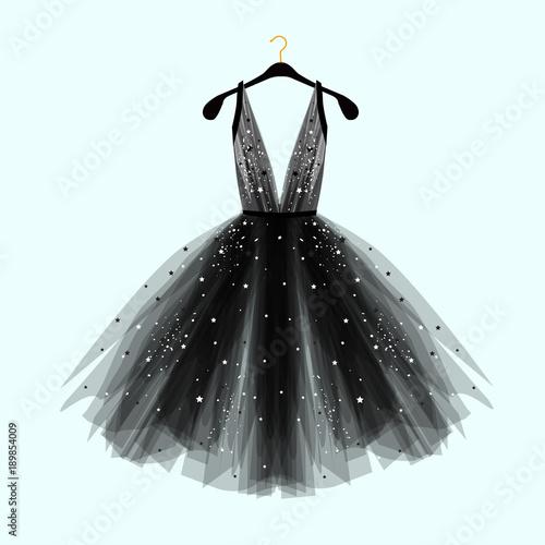 Billede på lærred Black fancy dress for special event with decor