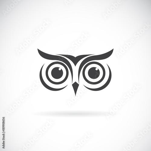 Fototapeta premium Wektor konstrukcji twarzy sowy na białym tle. Logo ptaka. Dzikie zwierzęta.