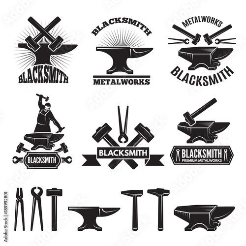 Cuadros en Lienzo Industrial logo set