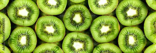 Fresh organic kiwi fruit sliced Fototapeta