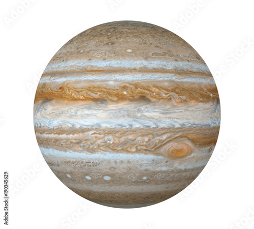 Fotografie, Obraz Planet Jupiter Isolated (Elements of this image furnished by NASA)