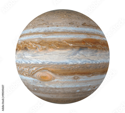 Obraz na plátně Planet Jupiter Isolated (Elements of this image furnished by NASA)