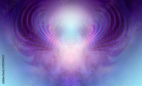 Photo Supernatural Ethereal Being Background - Blue and purple light form depicting su