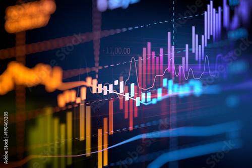 Carta da parati financial graph on technology abstract background