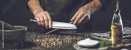 Canvas Print Messer Schärfen