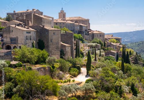 Stampa su Tela Medieval hilltop town of Gordes. Provence. France.