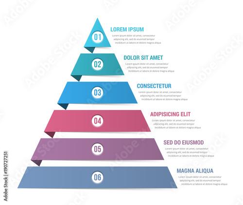 Obraz na plátně Pyramid Infographics