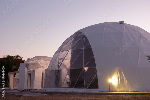 Fotografering Geodesic dome in Asia.