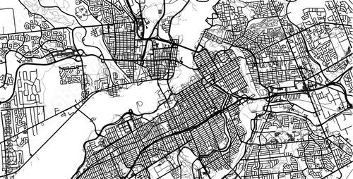 Fototapeta Urban vector city map of Ottawa, Canada
