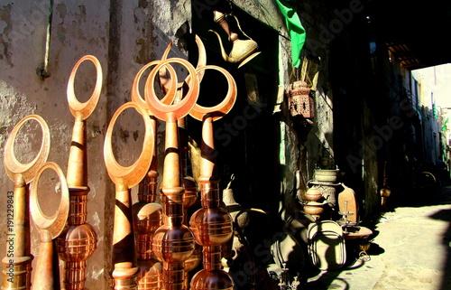 Gasse der Handwerker und Kupferschmiede in Tripolis in Libyen