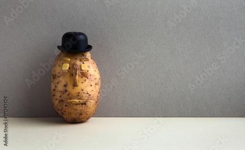 фотография Senor Potato bowler hat serious face