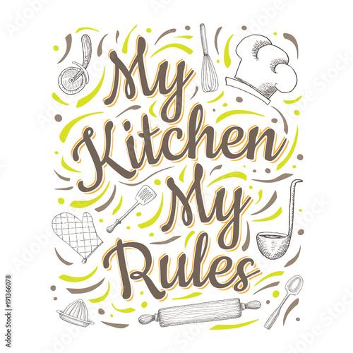 Plakat żywnościowy napis
