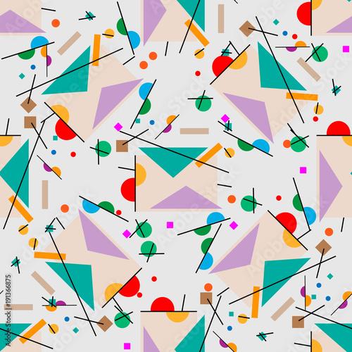 Obraz premium List do ilustracji. Geometryczna ilustracja retro list kubizm supermatyzm.
