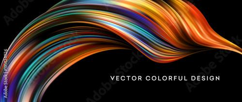 3d Streszczenie kolorowy płynny projekt. Ilustracji wektorowych