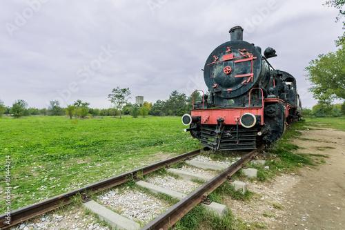 Canvas Print Steam power train from Orient Express era