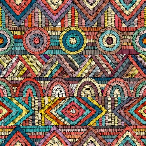 Fototapeta Embroidery - seamless ornament