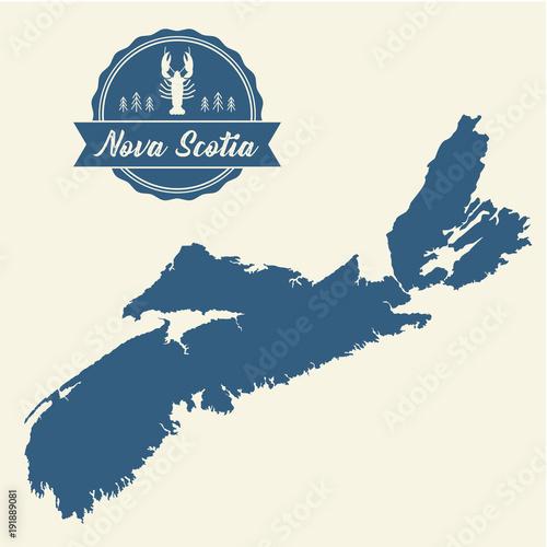 Wallpaper Mural Nova Scotia Map