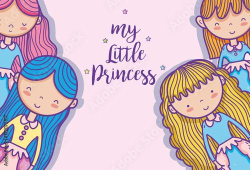 Little princess cute cartoon