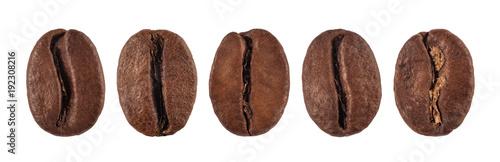 Fotografia coffee bean isolated on white background, nature