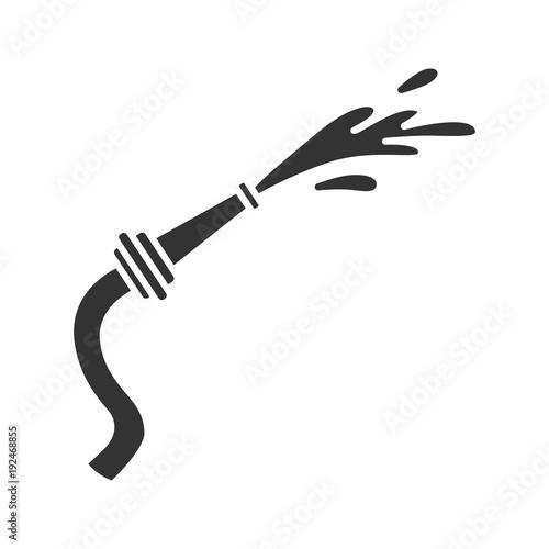 Fire hose glyph icon Fototapeta