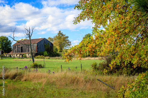 Obraz na plátně Old barn on Pontius Road, in the Uniontown / Hartville Ohio area, October 2016