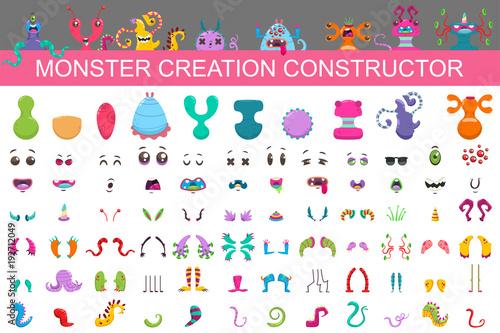 Wallpaper Mural Monster creation constructor kit