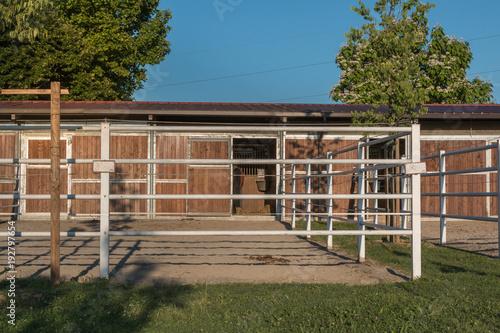 Vászonkép Animal Corral Farm: Field for Horses