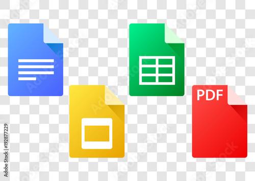 type of format files icon Fototapet