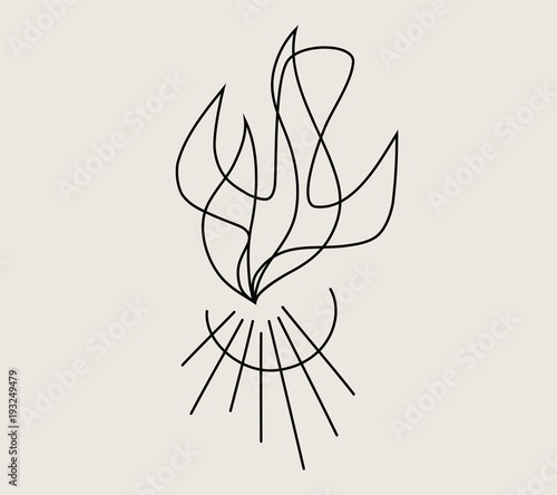 Fotografering Holy spirit Fire Line, art vector design