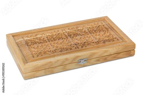 Fotografia Wood casket for backgammon