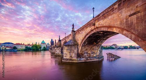 Fotografie, Tablou The Charles Bridge of Prague