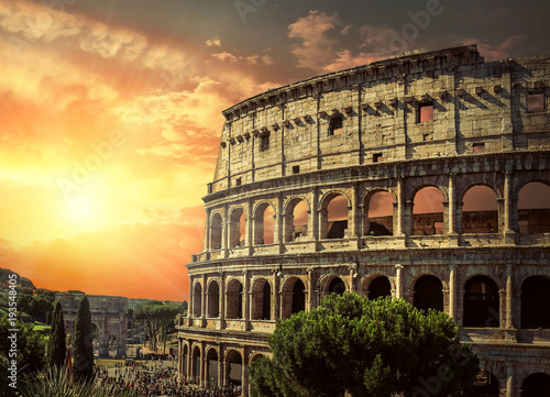 Fotografia One of the most popular travel place in world - Roman Coliseum.