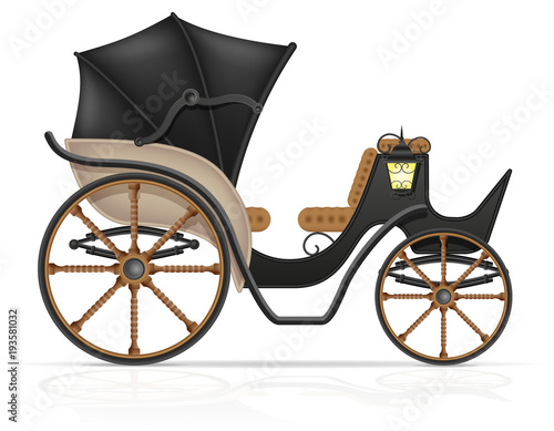 Cuadros en Lienzo carriage for transportation of people vector illustration