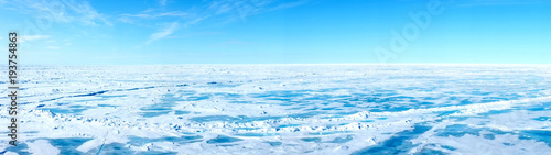 Fotografiet Panorama of the approach to the Geographic North Pole